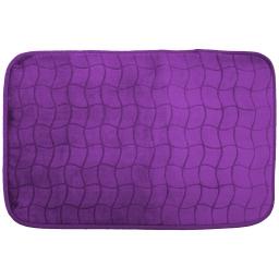 Tapis rectangle 50 x 80 cm velours uni tomette Prune