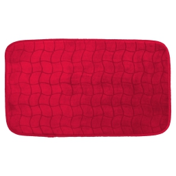 Tapis rectangle 50 x 80 cm velours uni tomette Rouge