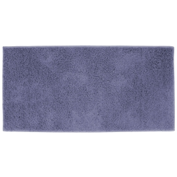 Tapis rectangle 57 x 115 cm tisse uni twist Bleu