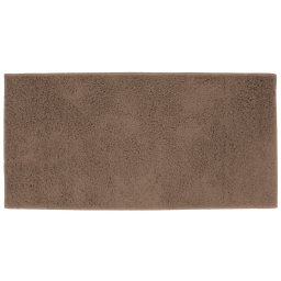 Tapis rectangle 57 x 115 cm tisse uni twist Choco