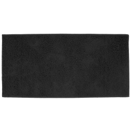 Tapis rectangle 57 x 115 cm tisse uni twist Noir