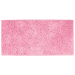 Tapis rectangle 57 x 115 cm tisse uni twist Rose