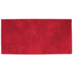 Tapis rectangle 57 x 115 cm tisse uni twist Rouge