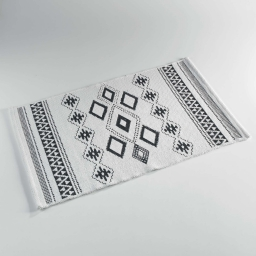 tapis rectangle 80 x 120 cm coton jacquard inca