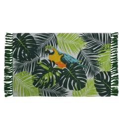 tapis rectangle a franges 50 x 80 cm coton imprime janeiro