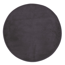 Tapis rond (0) 90 cm velours uni kalina Anthracite