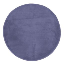 Tapis rond (0) 90 cm velours uni kalina Bleu