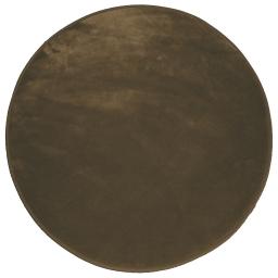 Tapis rond (0) 90 cm velours uni louna Choco