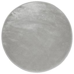 Tapis rond (0) 90 cm velours uni louna Gris