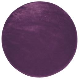 Tapis rond (0) 90 cm velours uni louna Prune