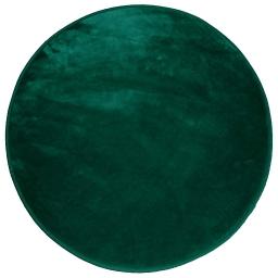 Tapis rond (0) 90 cm velours uni louna Vert