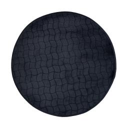 Tapis rond (0) 90 cm velours uni tomette Noir