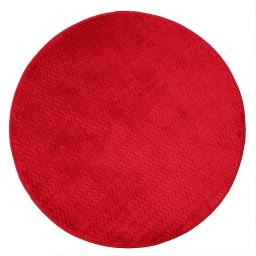 Tapis rond (0) 90 cm velours uni zigga Rouge