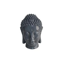 tete bouddha magnesie 23.5*22.5*h34cm gris