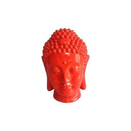 tete bouddha magnesie 23.5*22.5*h34cm rouge