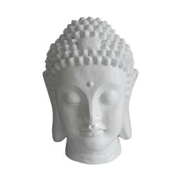 tete bouddha magnesie 35*34*h52cm blanc