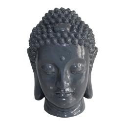tete bouddha magnesie 35*34*h52cm gris
