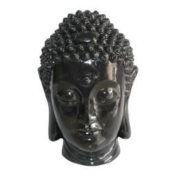 tete bouddha magnesie 35*34*h52cm noir