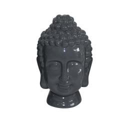 tete de bouddha ceramique 20*20*h31cm gris