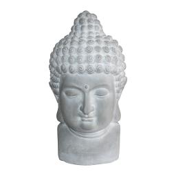 tete de bouddha magnesie 28*29*h50cm blanc