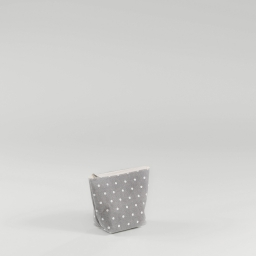 Trousse 17 x 13 cm x ht 7 cm polycoton imprime alicia Gris/Blanc