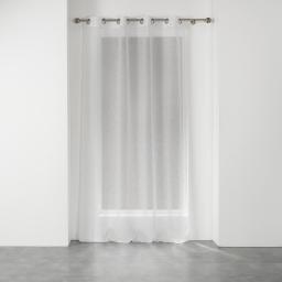 Voilage a oeillets 140 x 240 cm voile tisse applique elea Blanc/or
